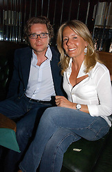 MR & MRS GIULIO SALOMONE he is managing director of Fiat Auto UK at a party hosted by Allegra Hicks and Melissa Del Bono to celebrate the opening of Volstead, Swallow Street, London W1 on 4th May 2006.<br /><br />NON EXCLUSIVE - WORLD RIGHTS