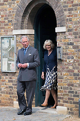 The Prince of Wales and  Duchess of Cornwall  during a tour of the Olympic Park in London Wednesday, 13th June 2012.  Photo by: i-Images