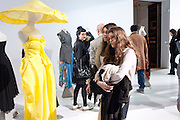 OLIVIA RAGE; BELLA YENTOB, Yohji Yamamoto exhibition opening. V & A Museum. London. 10 March 2011. -DO NOT ARCHIVE-© Copyright Photograph by Dafydd Jones. 248 Clapham Rd. London SW9 0PZ. Tel 0207 820 0771. www.dafjones.com.