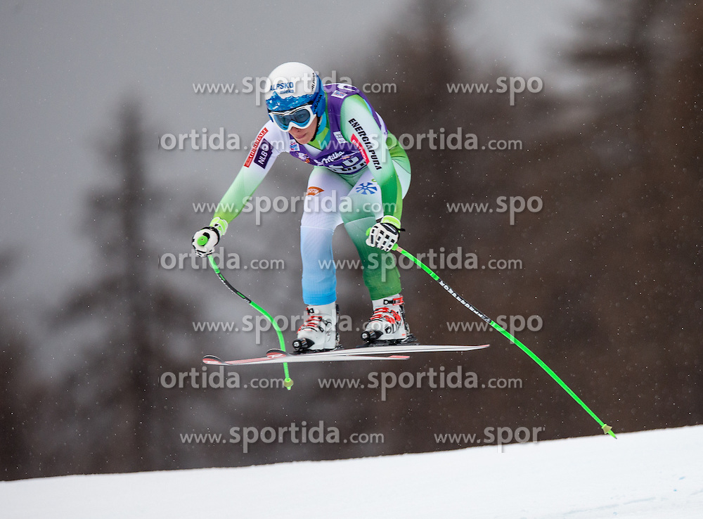 16.01.2015, Olympia delle Tofane, Cortina d Ampezzo, ITA, FIS Weltcup Ski Alpin, Abfahrt, Damen, im Bild Ilka Stuhec (SLO) // Ilka Stuhec of Slovenia  in action during the ladies Downhill of the Cortina FIS Ski Alpine World Cup at the Olympia delle Tofane course in Cortina d Ampezzo, Italy on 2015/01/16. EXPA Pictures © 2015, PhotoCredit: EXPA/ Johann Groder