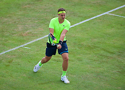 LIVERPOOL, ENGLAND - Thursday, June 15, 2017: Marcus Willis (GBR) during Day One of the Liverpool Hope University International Tennis Tournament 2017 at the Liverpool Cricket Club. (Pic by David Rawcliffe/Propaganda)