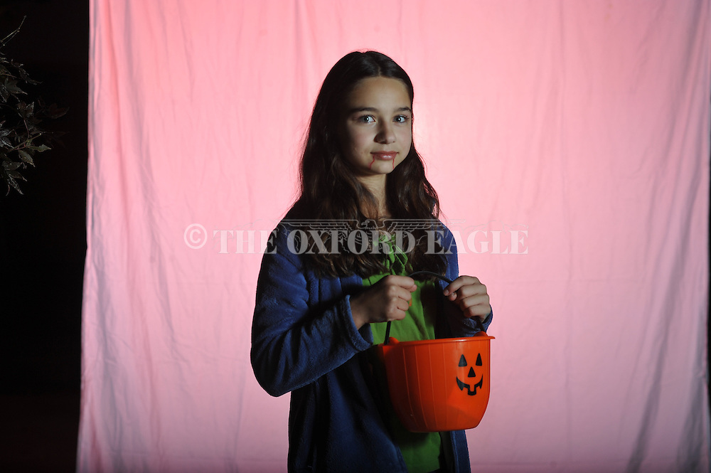 Cecille Roberts poses on Halloween in Oxford, Miss. on Wednesday, October 31, 2012.