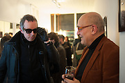 DEAN CHAKELEY; ROBERT ROOPE, Black Eye eyewear's 1st Birthday, 38 Goodge Street,  London. W1. 16 January 2014.