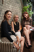 NATALIA KREMEN; ALISSA EDLANDER; MARIA STOLIARENKO, Afternoon tea to  celebrate the addition of the Naked Heart Dessert to Russian restaurant Mari Vanna's menu,  Mari Vanna, 116 Knightsbridge, London, SW1X 7PJ. August 29 2012.