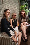 NATALIA KREMEN; ALISSA EDLANDER; MARIA STOLIARENKO, Afternoon tea to  celebrate the addition of the Naked Heart Dessert to Russian restaurant Mari Vanna's menu,  Mari Vanna, 116 Knightsbridge, London, SW1X 7PJ. August 29 2012.