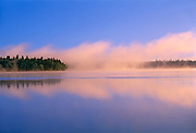 Fog at sunrise on Child's Lake<br />