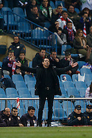 17.01.2013 SPAIN - Copa del Rey Matchday 1/2th  match played between Atletico de Madrid vs Real Betis Balompie (2-0) at Vicente Calderon stadium. The picture show  Diego Pablo Simeone coach of Atletico de Madrid