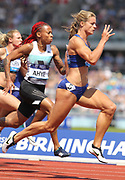 Dafne Schippers (NED) places second in the women's 100m in 11.09 during IAAF Birmingham Diamond League meeting at Alexander Stadium on Sunday, June 5, 2016, in Birmingham, United Kingdom. Photo by Jiro Mochizuki