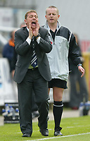 Photo: Chris Brunskill. Preston North End v Derby County. Play-Off Semi Final 1st Leg. 15/05/2005. Preston manager Billy Davies urges his team on.