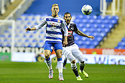 Matej Vydra and Bradley Johnson during the Sky Bet Championship match between Reading and Derby County at the Madejski Stadium, Reading, England on 15 September 2015. Photo by Adam Rivers.