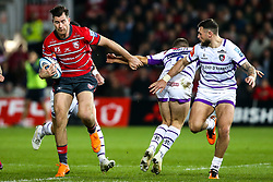 Mark Atkinson of Gloucester Rugby breaks through - Mandatory by-line: Robbie Stephenson/JMP - 16/11/2018 - RUGBY - Kingsholm - Gloucester, England - Gloucester Rugby v Leicester Tigers - Gallagher Premiership Rugby