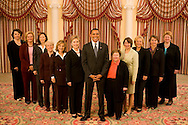 Barack Obama with the 11 Democratic Women Senators. Photograph made July 2008 and was projected at 2008 Democratic Convention.