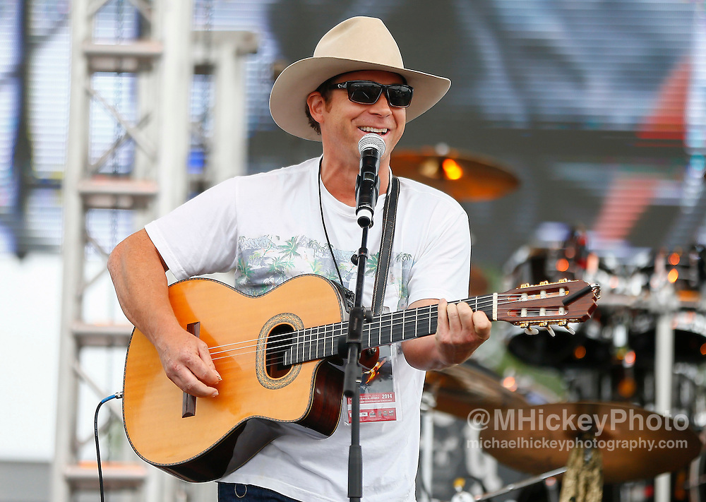 Scotty Emeric performs in concert during day 2 of the Brickfest Music Festival at Indianapolis Motor Speedway on July 27, 2014 in Indianapolis, Indiana.