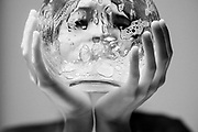 Bubbles and glass portrait