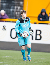 Falkirk's keeper Graham Bowman .<br /> Alloa Athletic 3 v 0 Falkirk, Scottish Championship game played today at Alloa Athletic's home ground, Recreation Park.<br /> &copy; Michael Schofield.