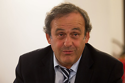 Michel François Platini, president of Union of European Football Associations (UEFA) at his visit in Slovenia prior to the UEFA European Under-17 Championship Final match between Germany and Netherlands on May 16, 2012 in City Hall, Ljubljana, Slovenia. (Photo by Vid Ponikvar / Sportida.com)