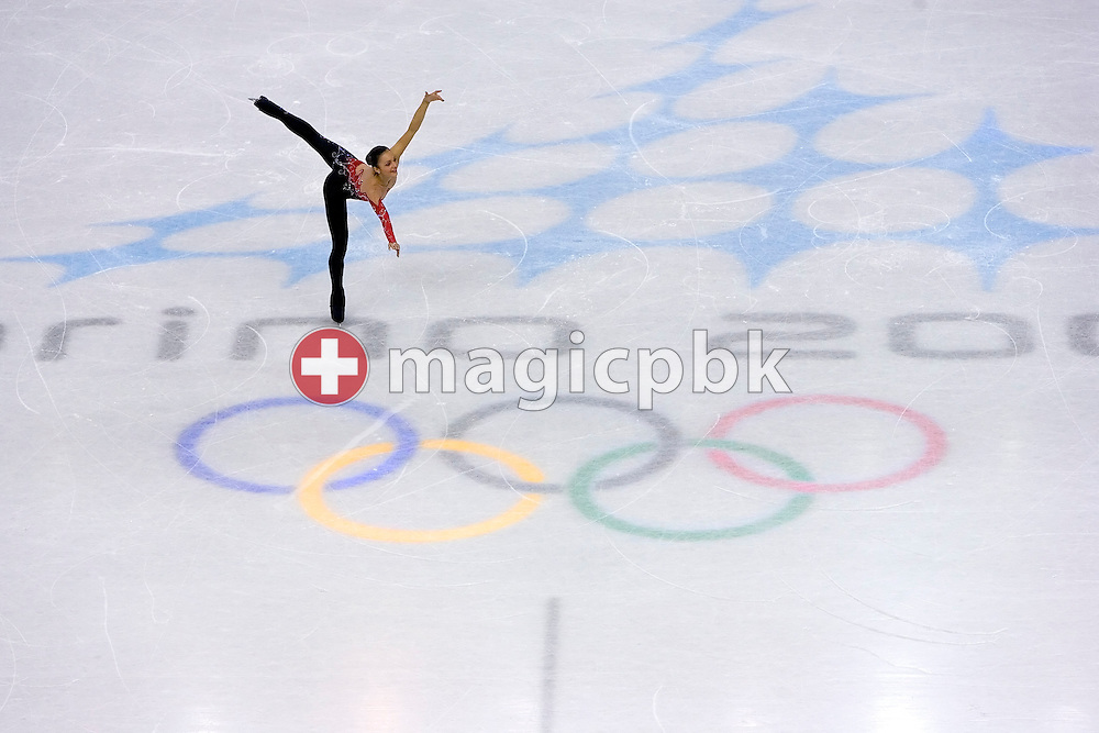 Sarah Meier of Switzerland performs during the women's Free Skating program of figure skating during Day 13 of the Turin 2006 Winter Olympic Games on February 23, 2006 at Palavela in Turin, Italy. (Photo by Patrick B. Kraemer / MAGICPBK)