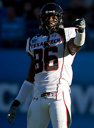 Texas Tech wide receiver L.A. Reed (86) in action during the Gator Bowl.  The Texas Tech Red Raiders defeated the Virginia Cavaliers 31-28 in the 2008 Konica Menolta Gator Bowl held at the Jacksonville Municipal Stadium in Jacksonville, FL on January 1, 2008.