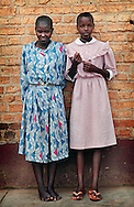 Teenage Hutu girls at the Rwamagana orphanage. The older girls help care for the younger orphans.