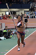 Feb 11, 2017; New York, NY, USA; Megan Clark (USA) competes in the women's pole vault during the 110th Millrose Games at The Armory.