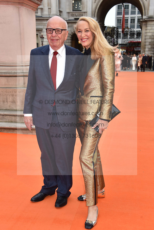 Rupert Murdoch and Jerry Hall at the Royal Academy of Arts Summer Exhibition Preview Party 2017, Burlington House, London England. 7 June 2017.