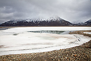 frozen lake, Svalbard