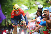 Ion Izagirre (ESP - Bahrain - Merida) during the 105th Edition of Tour de France 2018, cycling race stage 20, time trial, Saint Pee sur Nivelle - Espelette (31 km) on July 28, 2018 in Espelette, France - Photo Kei Tsuji / BettiniPhoto / ProSportsImages / DPPI
