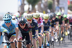 Barbara Guarischi in the peloton as they chase down the break on Stage 10 of the Giro Rosa - a 124 km road race, starting and finishing in Torre Del Greco on July 9, 2017, in Naples, Italy. (Photo by Sean Robinson/Velofocus.com)