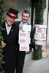 'At Your Service, The Butler has arrived in Brown Thomas&rsquo;. <br /> The Butler's Pantry will be at your service in Brown Thomas Dublin Limerick and Cork from with it&rsquo;s Christmas range. Pictured at the announcement is Brown Thomas doorman John Cunningham from Castleknock with &lsquo;The Butler&rsquo; Steve Burke from Santry. www.thebutlerspantry.ie . Picture Andres Poveda