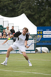 Liverpool, England - Tuesday, June 12, 2007: Greg Rusedski (GBR) in action on day one of the Liverpool International Tennis Tournament at Calderstones Park. For more information visit www.liverpooltennis.co.uk. (Pic by David Rawcliffe/Propaganda)