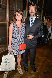 PATRICK GRANT and FLORRIE WHITE at a party to celebrate the launch of Sackville's Bar & Grill, 8a Sackville Street, London on 15th July 2015.