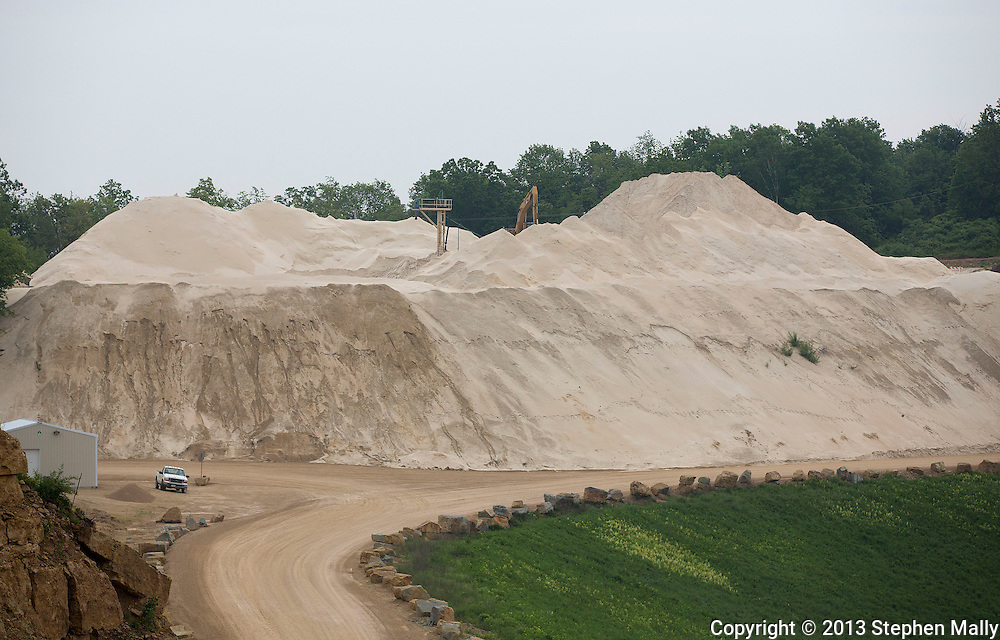 The sand drying operation at Pattison Sand Company in Garnavillo, Iowa on June 5, 2013.