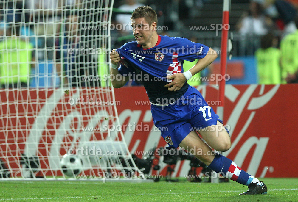 Ivan Klasnic of Croatia scored during the UEFA EURO 2008 Quarter-Final soccer match between Croatia and Turkey at Ernst-Happel Stadium, on June 20,2008, in Wien, Austria.  Won of Turkey after penalty shots. (Photo by Vid Ponikvar / Sportal Images)