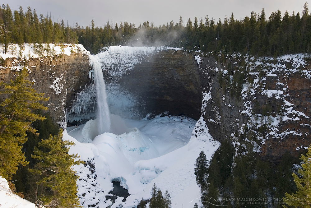Helmcken Falls in winter, Wells gray Provincial Park British Columbia Canada