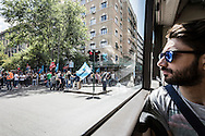 Roma, Lazio, Italia, 30/05/2016<br /> Roma, Lazio, Italia, 30/05/2016<br /> Manifestazione degli operatori dell'igiene urbana a piazza Cola di Rienzo. L'emergenza rifiuti &egrave; uno dei problemi che dovr&agrave; risolvere il futuro sindaco di Roma.<br /> <br /> Rome, Lazio, Italy, 30/05/2016<br /> Demonstration of urban hygiene operators at Cola di Rienzo square. The waste emergency is one of the problems that the future mayor of Rome will have to resolve.