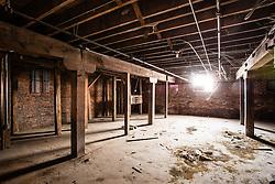 Adluh Flour warehouse on Gervais Street, Columbia, South Carolina prior to renovation. Interior of the Adluh Flour warehouse in Columbia, South Carolina, prior to renovation.
