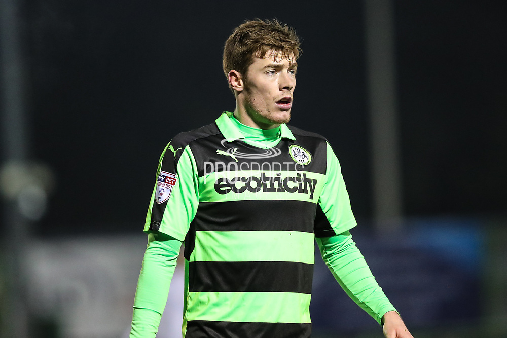 Forest Green Rovers Luke James(33) during the EFL Trophy match between Forest Green Rovers and U21 Swansea City at the New Lawn, Forest Green, United Kingdom on 31 October 2017. Photo by Shane Healey.