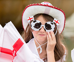 19/04/2014.  Members of the public enjoy the annual St Georges Day celebration in Birmingham city centre's Victoria Square today.  Photo credit: Alison Baskerville/LNP