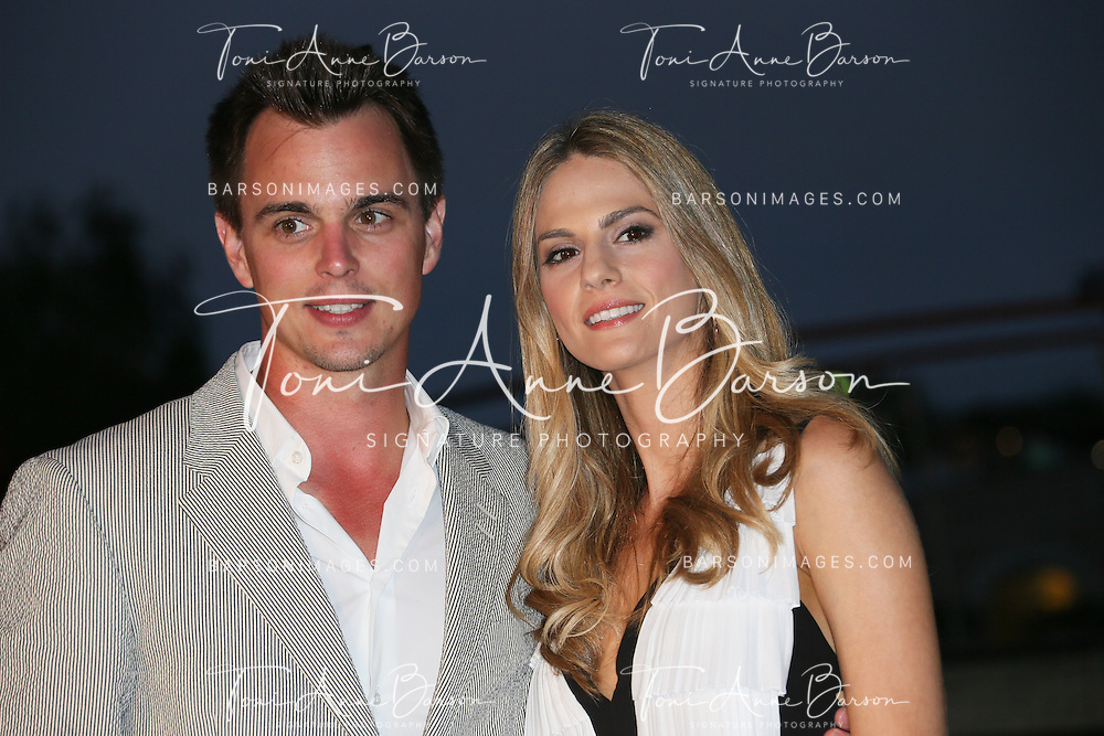 MONTE-CARLO, MONACO - JUNE 09:  Darin Brooks and girlfriend attend a Party at the Monte Carlo Bay Hotel on June 9, 2014 in Monte-Carlo, Monaco.  (Photo by Tony Barson/FilmMagic)
