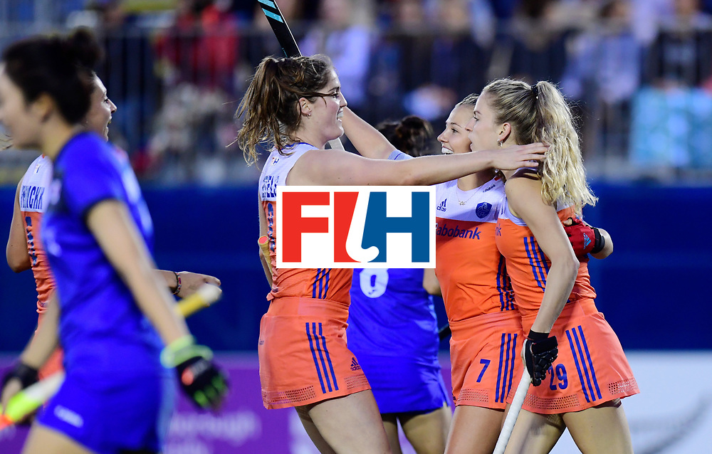 AUCKLAND - Sentinel Hockey World League final women<br /> Match id:<br /> 18 NED v KOR (Semi Final)<br /> Foto:Netherlands scored 2-0<br /> WORLDSPORTPICS COPYRIGHT FRANK UIJLENBROEK