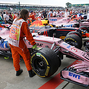 16.07.2017 British F1 Grand Prix Silverstone UK race day pit lane at the end of the race