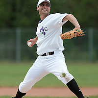 25 April 2010: Phil Davis of the PUC pitches against Rouen during game 2/week 3 of the French Elite season won 12-0 by Rouen over the PUC, at the Pershing Stadium in Vincennes, near Paris, France.