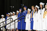 Senior choir members lead the alma mater during the 119th annual Springboro High School commencement at the Nutter Center in Fairborn, Saturday, June 2, 2012.