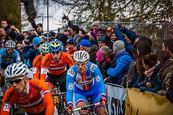 Martin BINA (36, CZE) 1st lap at Men UCI CX World Championships - Hoogerheide, The Netherlands - 2nd February 2014 - Photo by Pim Nijland / Peloton Photos