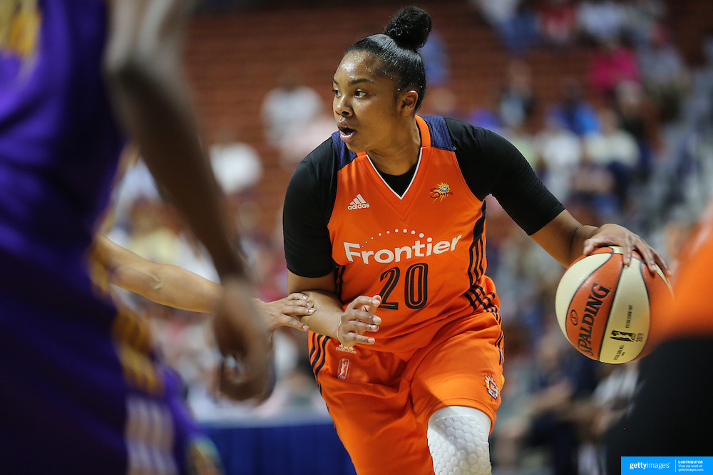 UNCASVILLE, CONNECTICUT- MAY 26: Alex Bentley #20 of the Connecticut Sun in action during the Los Angeles Sparks Vs Connecticut Sun, WNBA regular season game at Mohegan Sun Arena on May 26, 2016 in Uncasville, Connecticut. (Photo by Tim Clayton/Corbis via Getty Images)