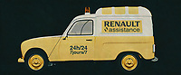 The 1970 Renault 4 F4 is the typical French van that every European knows. With its infinite possibilities, the 1970 Renault 4 F4 has served small and large companies. Here is an assistance van of Renault pictured. But also the baker and milkman used this Renault.<br />