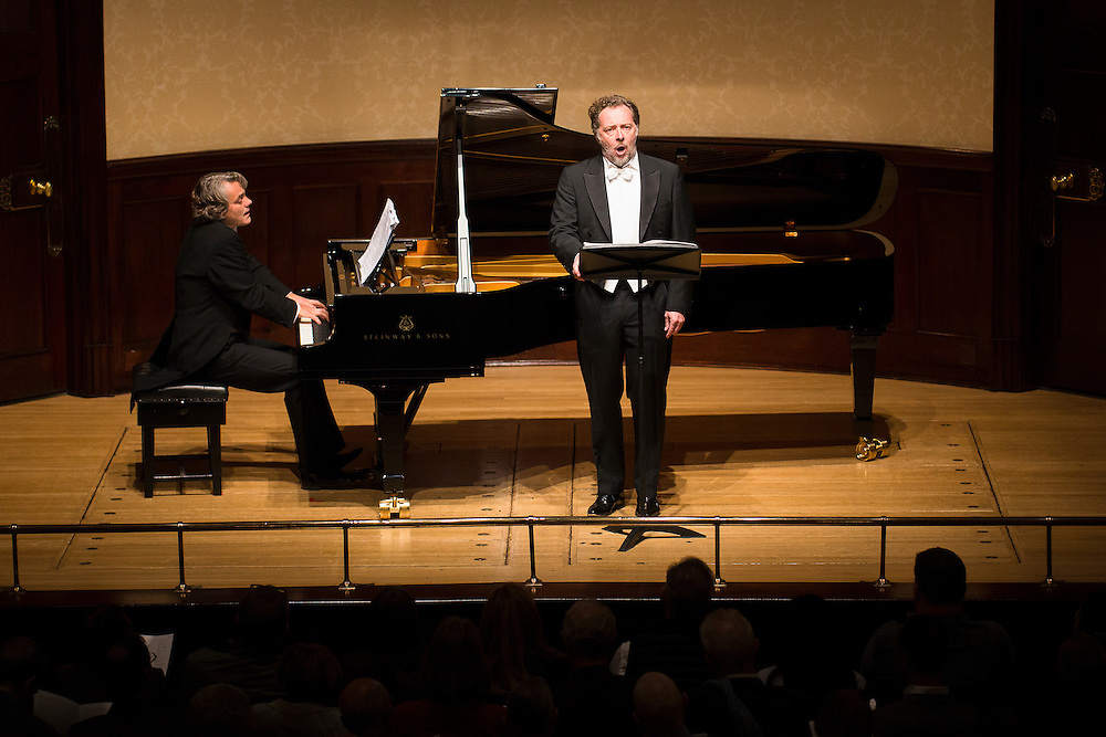 baritone Christian Gerhaher with pianist Gerold Huber.