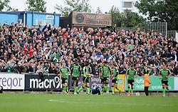 Plymouth Argyle celebrate - Mandatory by-line: Neil Brookman/JMP - 30/09/2017 - FOOTBALL - Memorial Stadium - Bristol, England - Bristol Rovers v Plymouth Argyle - Sky Bet League One