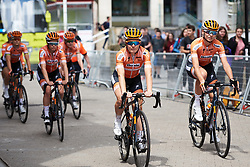 Amy Pieters (NED) and her Boels Dolmans teammates arrive for Emakumeen Bira 2018 - Stage 3, a 114.5 km road race starting and finishing in Aretxabaleta, Spain on May 21, 2018. Photo by Sean Robinson/Velofocus.com