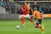 Middlesbrough defender Djed Spence (29)  during the EFL Sky Bet Championship match between Hull City and Middlesbrough at the KCOM Stadium, Kingston upon Hull, England on 2 July 2020.